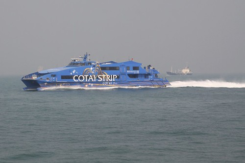 Cotai Jet catamaran 'The Plaza' off Hong Kong
