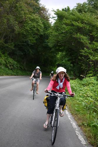 Cycling around Lake Toya, Hokkaido, Japan