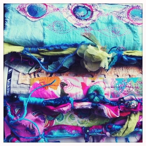 fabric & fiber wrapped journal bindings