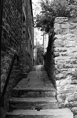"Back Lane BW • <a style=""font-size:0.8em;"" href=""http://www.flickr.com/photos/11477083@N00/6041217342/"" target=""_blank"">View on Flickr</a>"