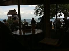 R Cafe 店内から琵琶湖を望む