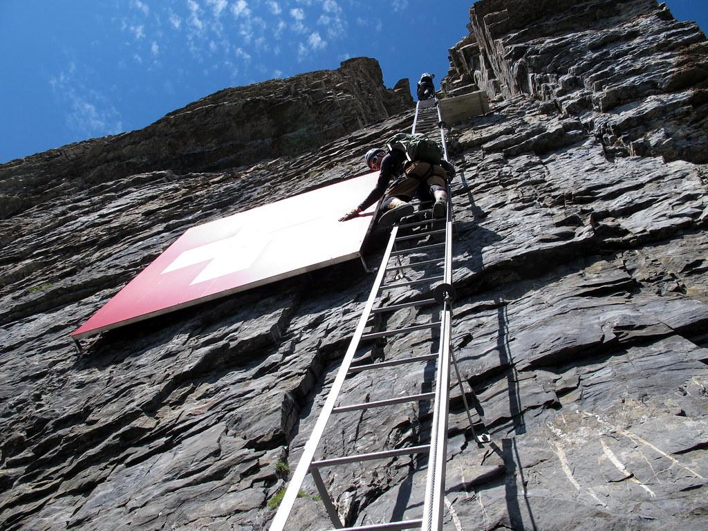 Klettersteig Leukerbad : Klettersteig daubenhorn