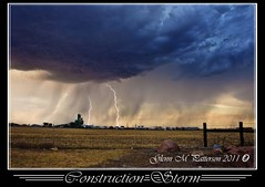 Contruction Storm (gmp1993) Tags: sunset sky storm oklahoma rain weather clouds colorful pretty glenn patterson thunderstorm lightning thunder altus