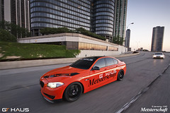 GTHAUS F10 BMW 535i:  Crusing on LSD (jeremycliff) Tags: city morning usa chicago skyline race racecar downtown wheels il bmw m3 exhaust e90 gtc savini meisterschaft e92 jeremycliff flossman photomotive gthaus thephotomotivecom jeremycliffcom wideobdy