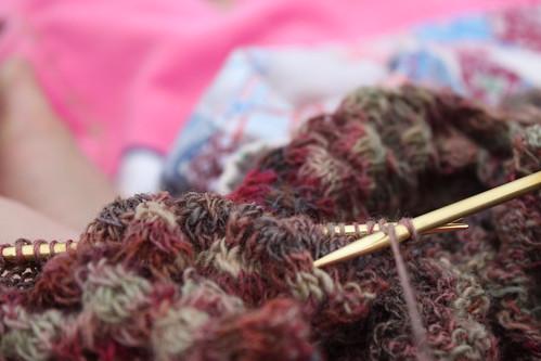 Tricotar na praia