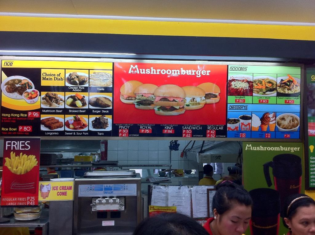 Mushroom Burger Menu Tagaytay