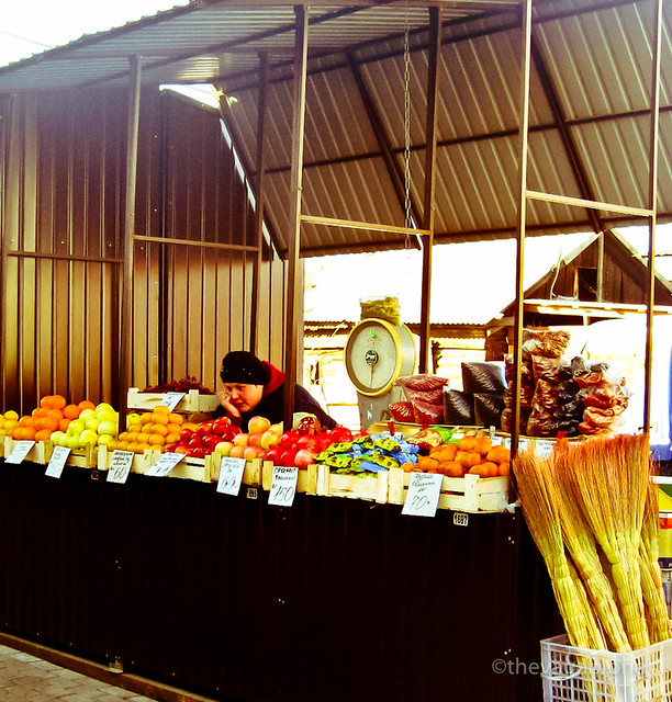 Irkutsk vegetable vendor