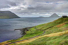 Velbastaour, Faroe Islands, Denmark (**Anik Messier**) Tags: landscape denmark islands village faroeislands scenicview faroes hestur kingdomofdenmark koltur elevatedview hestsfjrur streymoyisland velbastaur anikmessiercopyright velbastaour hestsfjorour