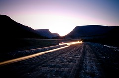 (RMN85) Tags: sunset mountains night lights massif     khibiny tundras
