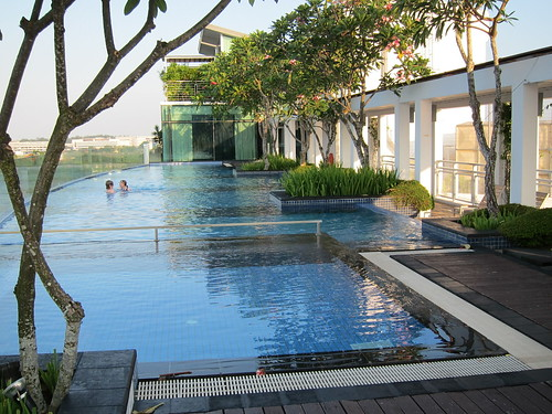 Pool on the rooftop, Changi Village Hotel