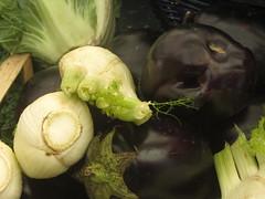 eggplants and fennel