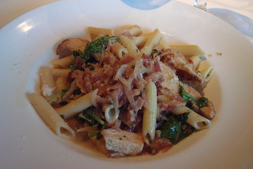 Penne with Chicken, Bacon, and Arugula