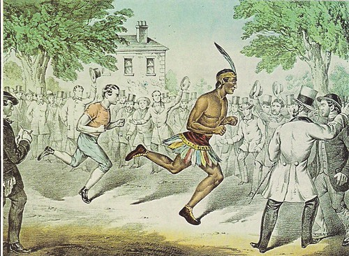 The Seneca Runner, Deerfoot (1835)(Colored Lithograph - The Old Print Shop, NYC, NY)