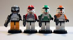 Delta Squad (Iceman792) Tags: lego delta clones squad clone commando commandos minifigure