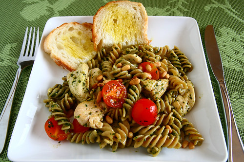 Chicken Fusilli with Pesto