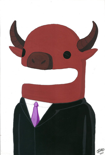 dumb politician = buffalo in fancy suit