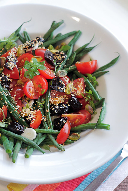 Green Beans, Tomatoes and Black Olives