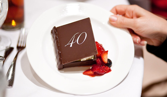 SCBWI's 40th Anniversary dessert. Delicious. (photo by Rita Crayon Huang)