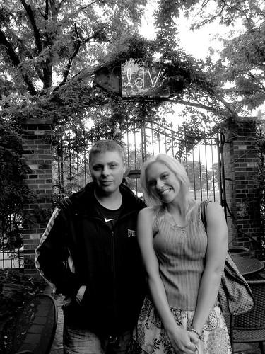 Damien & Lindsay, B&W, at La Dolce Vita