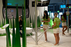 Girls promoting Sony Xperia Play at GamesCom 2011