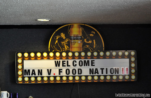 Man Vs Food Nation Sign at Tin Cup's ~ St Paul, MN