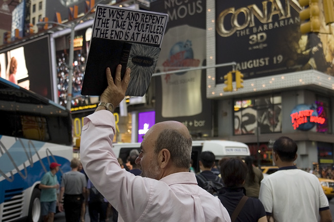 Repent, in Times Square