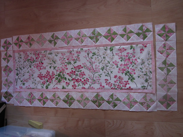 Dogwood table runner progress