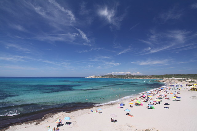 Great colors at the Rena Majore Beach in northern Sardinia...