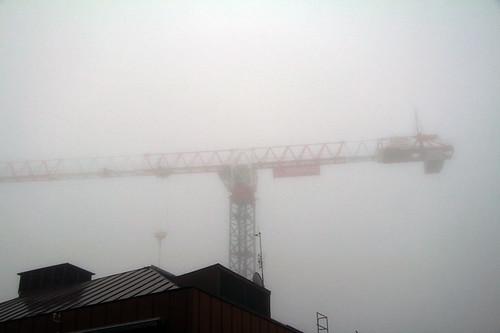Kranen i dimma