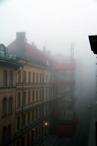 Min gata i dimma