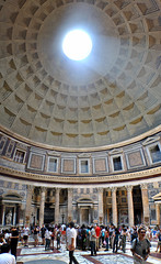 Pantheon panorama (TPFoster) Tags: old city travel roof light vacation sky italy sculpture rome roma building history tourism church monument fountain architecture square religious temple town italian ancient europe italia european ray hole cathedral roman antique interior famous capital religion sightseeing pantheon indoor landmark tourist medieval ceiling historic dome round inside marble piazza navona