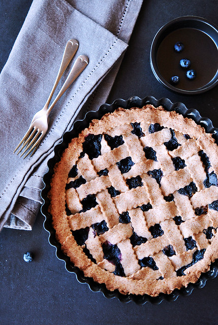 1.Blueberry pie al grano saraceno