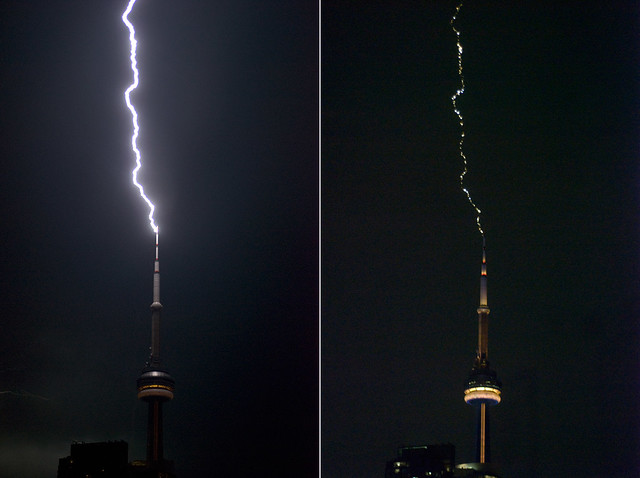 cn tower lightning