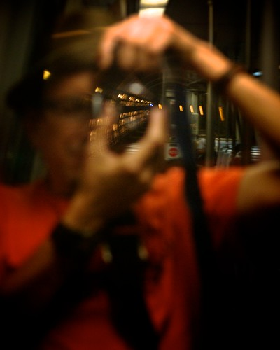 Self-Portrait in the metro