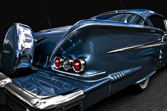 Blue Finn (Neil Banich Photography) Tags: blue art cars chevrolet automobile hotrod rearend tailights autoart 1958impala neilbanicphotography