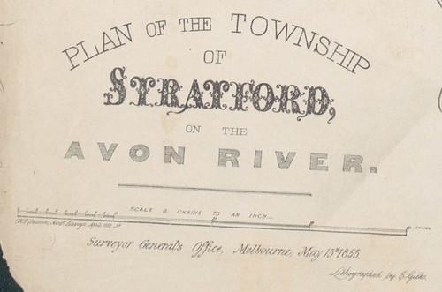 Masthead, Stratford 1855 map