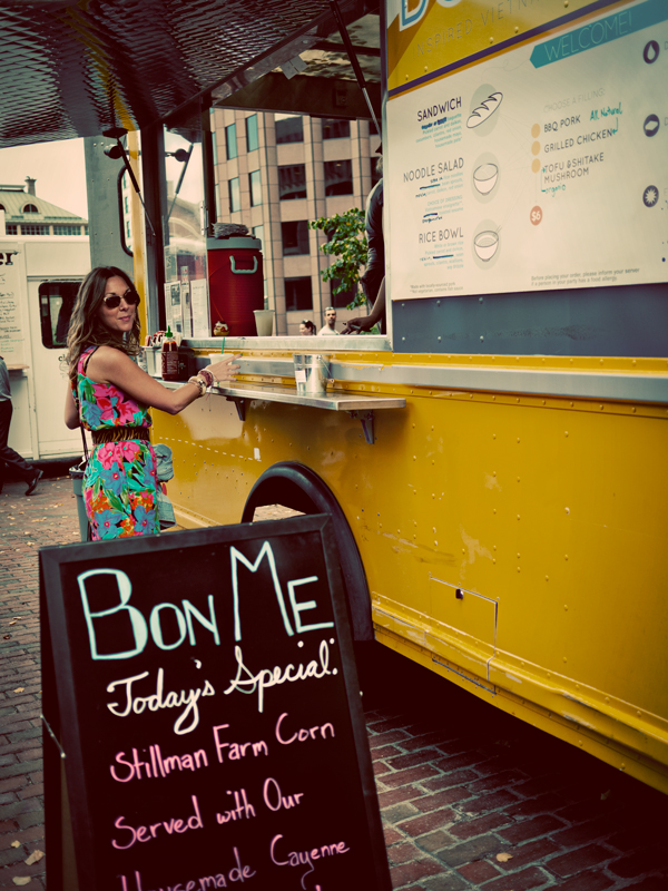 Jasmine at the Bon Me Food Truck, Boston