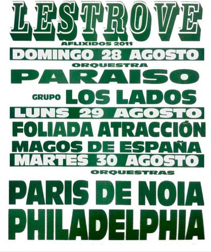 Dodro 2011 - Festa dos Aflixidos en Lestrove - cartel