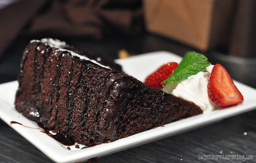 Chocolate Fudge Cake at Santorini Taverna ~ Eden Prairie, MN