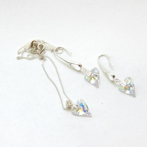 Swarovski Wild Heart Crystal Hearts Jewellery Set