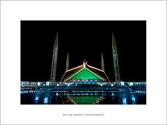 Faisal Mosque on 27th of Ramadan, 2011 (Aaftab Sheikh) Tags: pakistan night canon lights islam mosque islamabad faisalmosque aaftab eos400d shabeena 27thramzan taravee
