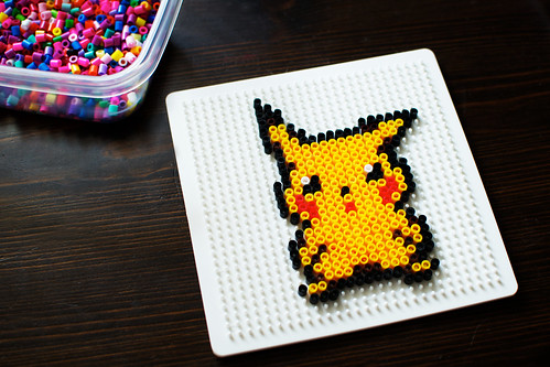 Pixelated Pikachu.