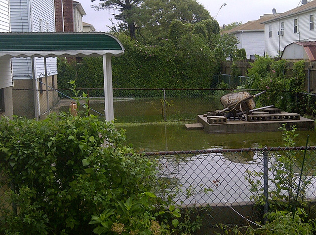 Photo of flooding from Hurricane Irene