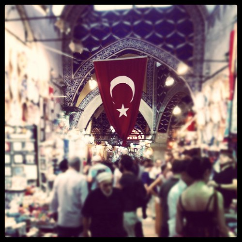 They are always proud to be Turkish #granbazaar #istanbul
