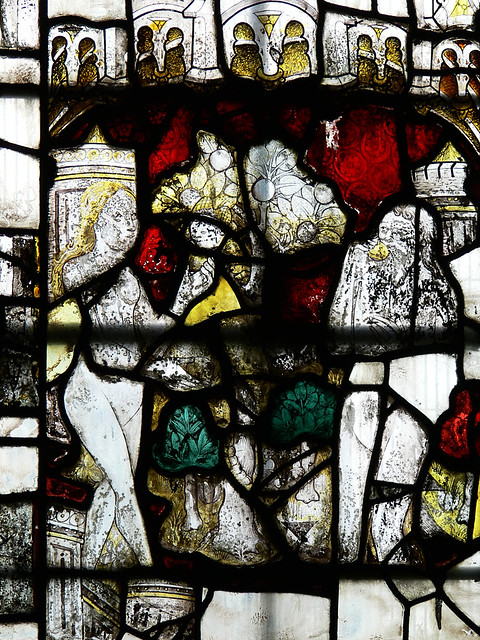The Fall, Medieval stained glass