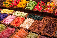 Sweets (Benn...) Tags: barcelona spain colours candy market sweets catalunya lollies laboqueria mercat stjosep