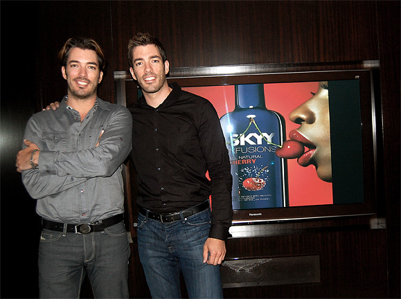 The Property Brothers at the SKYY Cocktail Countdown