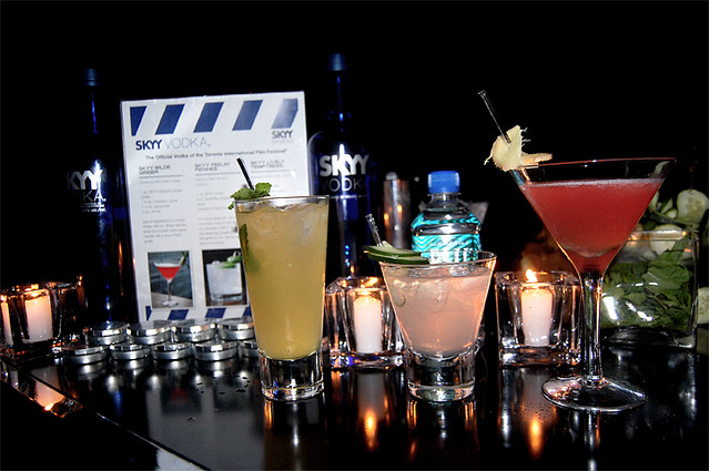 The SKYY Vodka TIFF11 specialty cocktails
