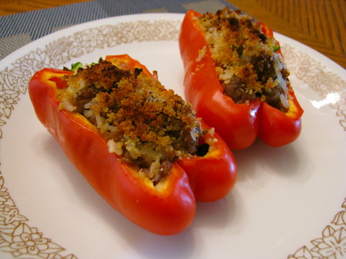 Sausage and Rice Stuffed Peppers