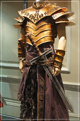 Conan The Barbarian Exhibition - London Film Museum : Stephen Lang's Khalar Zym Gold Armour from Conan The Barbarian by Craig Grobler